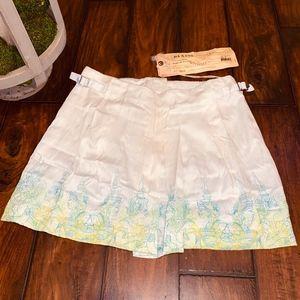 *NWT*Da-Nang White Pleat-Stitched Skirt- Size XS